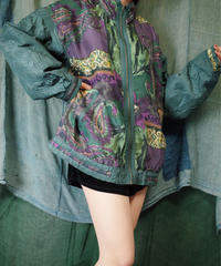 Paisley × Flower Silk Art Blouson