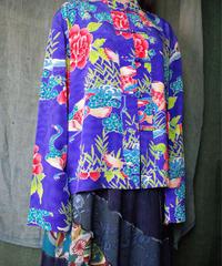"""和柄 """"鶴"""" Silk China Shirt"""