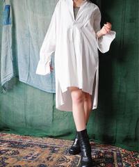 Antique Linen Pullover Dress Shirt from 1920-30s