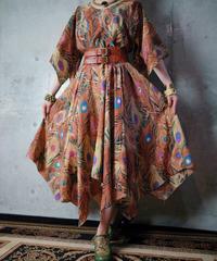Peacock Dress c.1970s