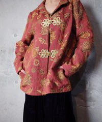 Baroque Flower Gobelin Jacket Remake China Buttons