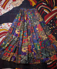 Mix Pattern Indian Cotton Skirt