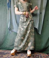Smokey Green Nouveau Dress