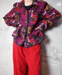 Modern Art Weave Jacket Reversible