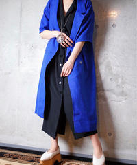 Royal Blue Double Breasted Long Jacket