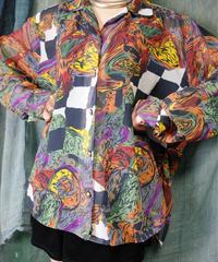 Abstract Art See Through Shirt