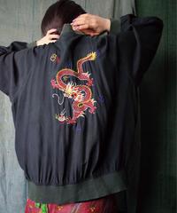 Dragon Embroidered Silk Blouson