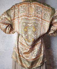 Scarf Arabesque Silk Shirt