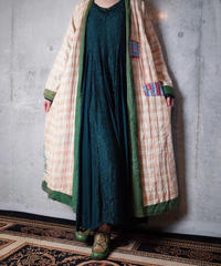 1945s Beautiful Broken Vintage Quilt Gown Reversible