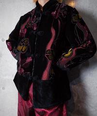 Velvet × Sheer Flower China Jacket