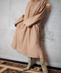 Embroidery Mao Collar Long Shirt Dress