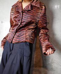Tiger Faux Fur Short Jacket