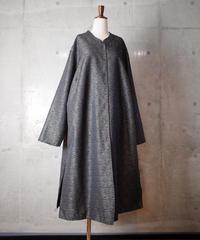 Mosaic Silk Long China Shirt Dress