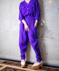 Remake China Jodhpurs Set Up Purple Silk