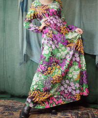 Flower Maxi Dress from 1970s vintage
