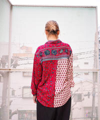 Paisley×Flower Crazy Switch Rayon Shirt