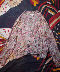 Oriental Arabesque Rayon Double Shirt Jacket
