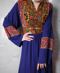 Afghan Embroidery Rayon Dress c.1970
