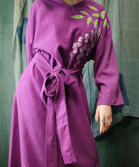 Purple Linen Paint Art Dress