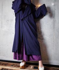 Deep Navy Purple Drape Coat