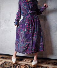 Paisley & Flower Front Open Dress