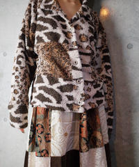 Leopard × Tiger Fleece Shirt Jacket