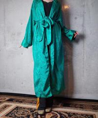 Emerald Green Arabesque Jacquard Gown