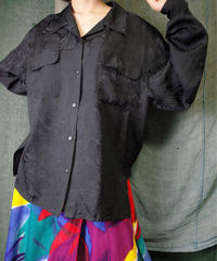 Smoke Wave Black Silk Shirt