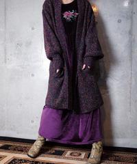 Neon Mix Color Pile Knit Gown