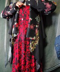 Dragon × Flower Drape Gown