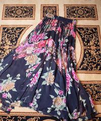 Flower Sheer Rayon Drape Skirt
