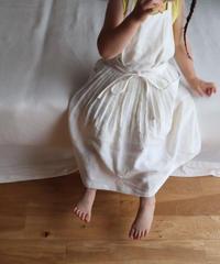 エプロンドレス  ホワイト Casual for Kids