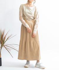 フェイクスエードプリーツスカート|Mylanka|M25407