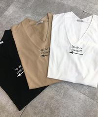 VネックフロントロゴTシャツ|BEATRICE|E84345