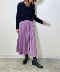 フェイクレザープリーツスカート|Mylanka|M25482
