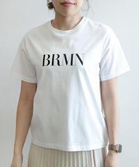 異素材ドッキングロゴTシャツ|B86228[BRAHMIN]