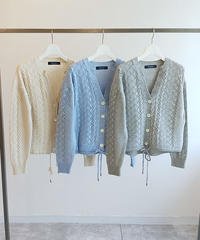 【桜庭ななみさんご着用】ケーブル編みカーディガン|B96107[BRAHMIN]