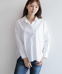 異素材コンビボリューム袖シャツ|B86322[BRAHMIN]