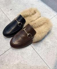fur sandal (2color)