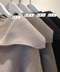 Zip up kara knit  (4color)