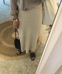 lamé knit skirt
