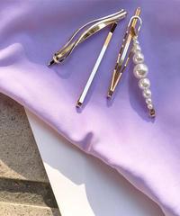 4set simple pearl pin