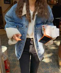 Denim boa jacket