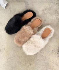 Rabbit fur sandal (3color)