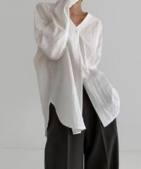 V neck loose shirts  (3color)