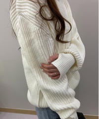 Hand point knit (3color)