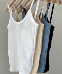 Cotton cami  (4color/パット取り外し可能)