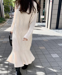Mermaid cable long onepiece