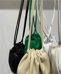 mini cow leather pouch bag  (5Color)