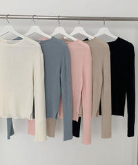 rib cut knit (5color)